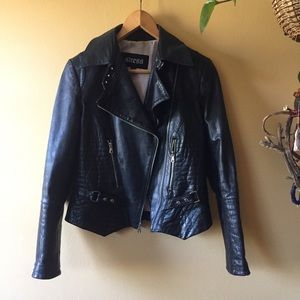 GUESS 🔸 Leather Moto Jacket Sz Small